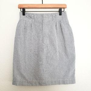 Vintage Ralph Lauren Oxford Stripe Pencil Skirt
